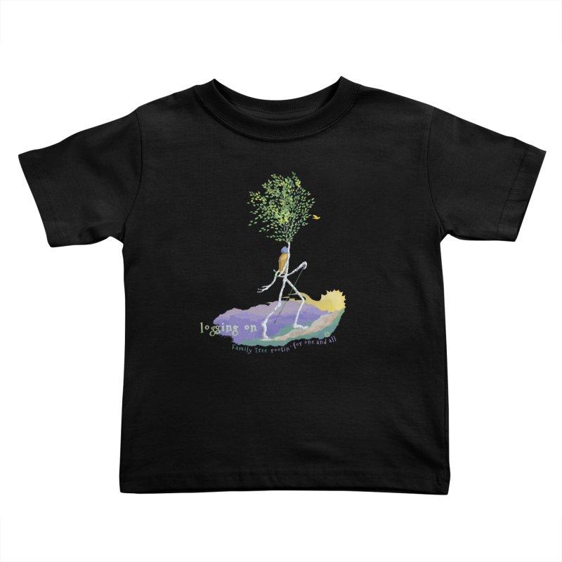 Loggin On Kids Toddler T-Shirt by Family Tree Artist Shop