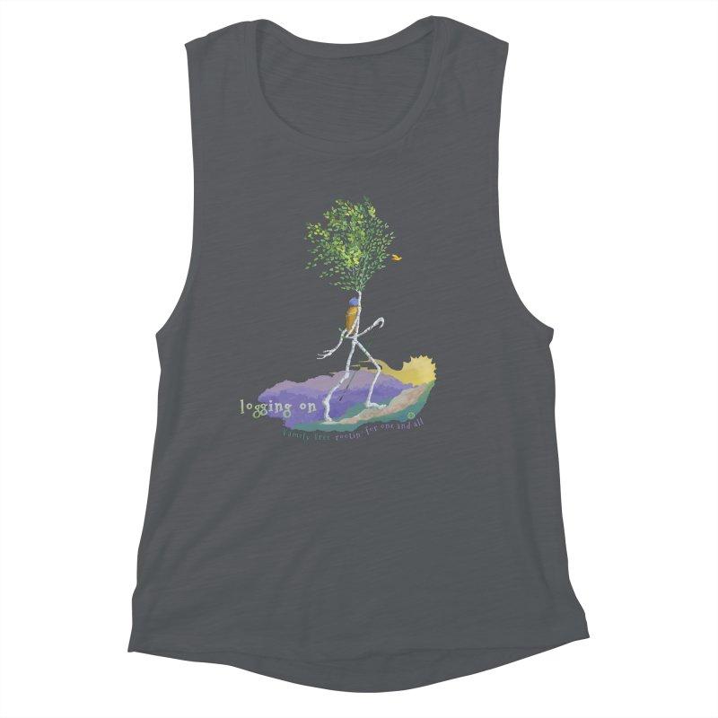 Loggin On Women's Tank by Family Tree Artist Shop