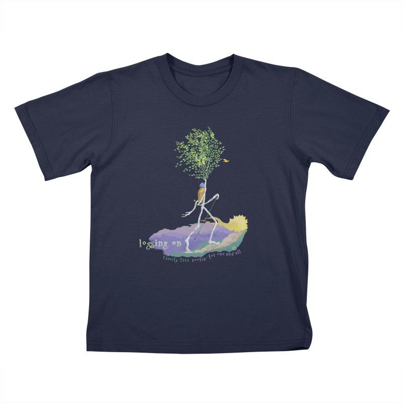 Loggin On Kids T-Shirt by Family Tree Artist Shop
