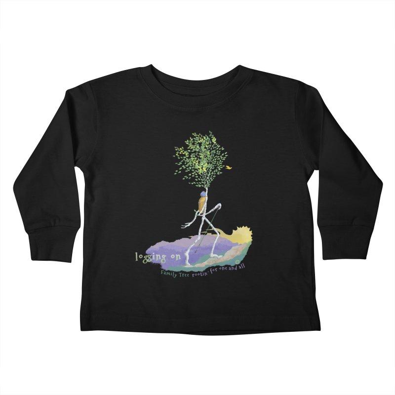 Loggin On Kids Toddler Longsleeve T-Shirt by Family Tree Artist Shop