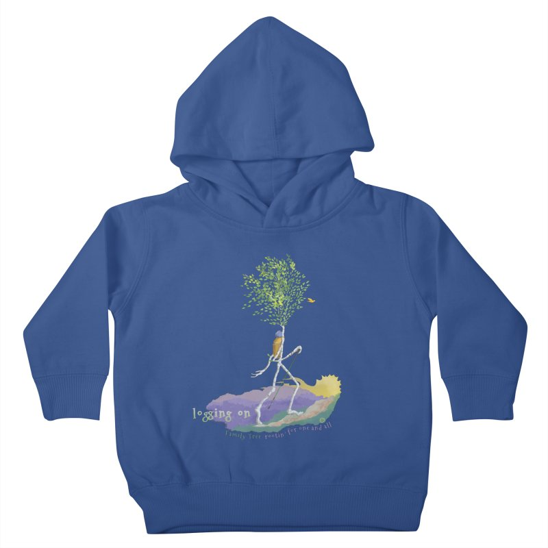 Loggin On Kids Toddler Pullover Hoody by Family Tree Artist Shop