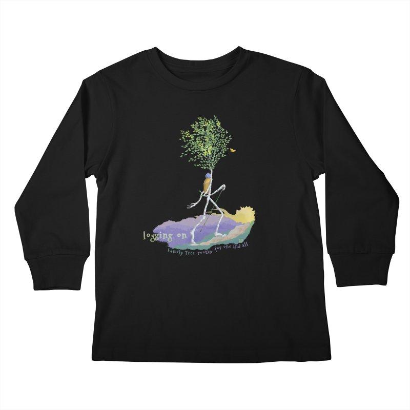 Loggin On Kids Longsleeve T-Shirt by Family Tree Artist Shop