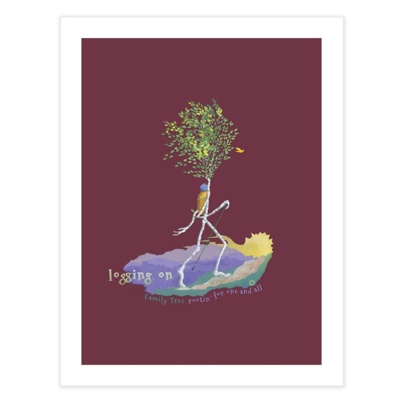 Loggin On Home Fine Art Print by Family Tree Artist Shop