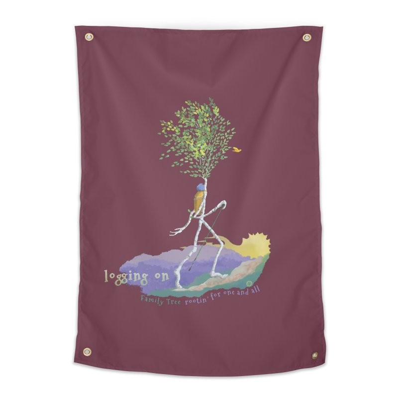Loggin On Home Tapestry by Family Tree Artist Shop