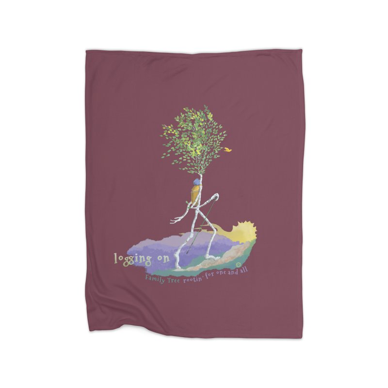 Loggin On Home Fleece Blanket Blanket by Family Tree Artist Shop