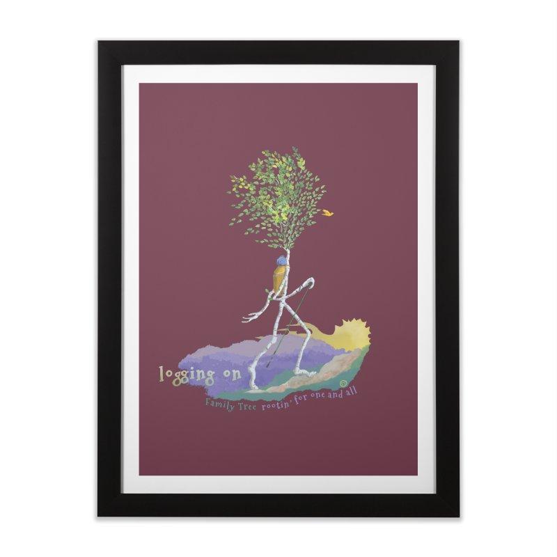 Loggin On Home Framed Fine Art Print by Family Tree Artist Shop