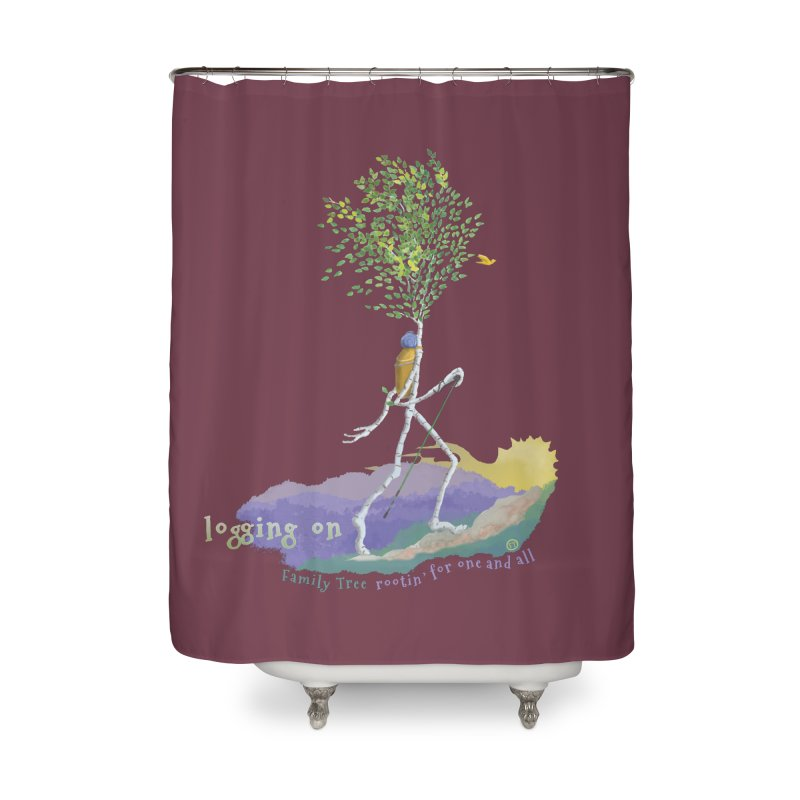 Loggin On Home Shower Curtain by Family Tree Artist Shop