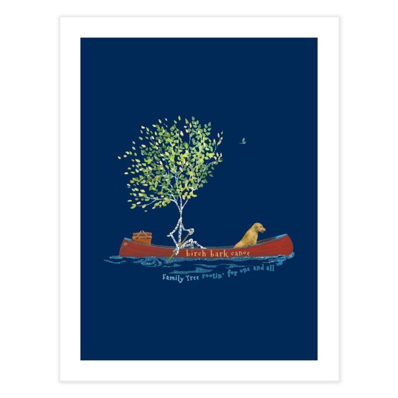 Birch Bark Canoe Home Fine Art Print by Family Tree Artist Shop