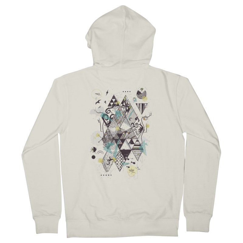 Geometric Nature Women's Zip-Up Hoody by LStrider