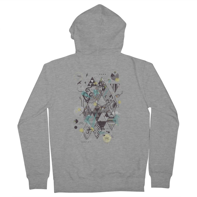 Geometric Nature Men's Zip-Up Hoody by LStrider