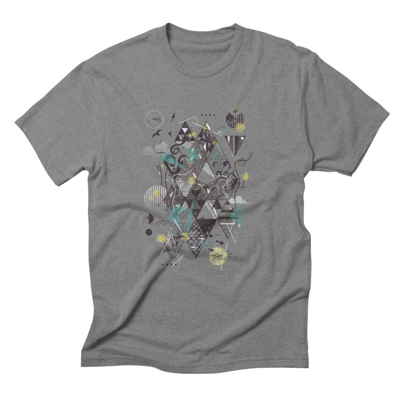 Geometric Nature Men's Triblend T-Shirt by LStrider