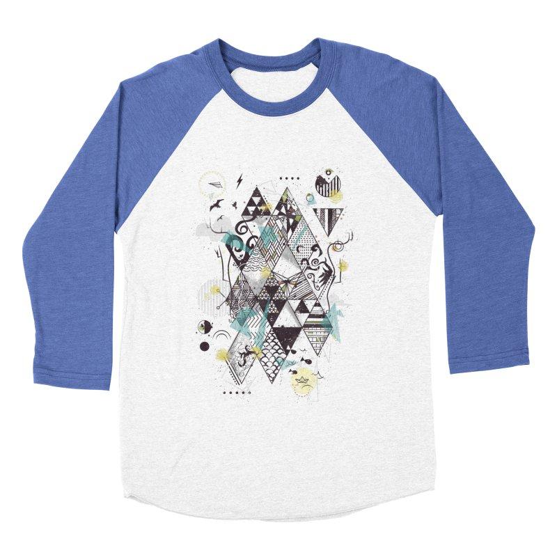 Geometric Nature Men's Baseball Triblend T-Shirt by LStrider