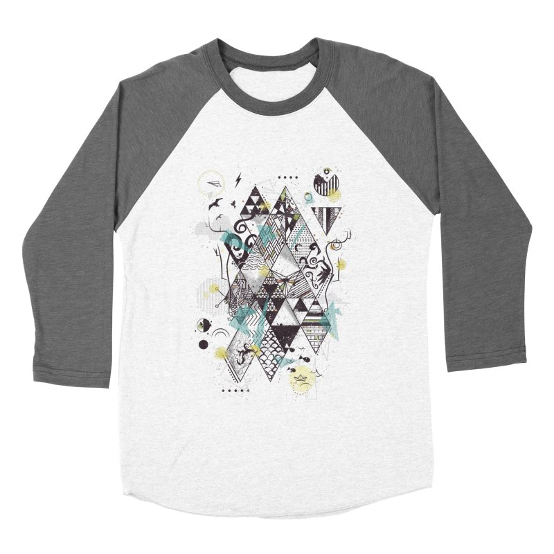 Geometric Nature Men's Baseball Triblend T-Shirt by LStrider