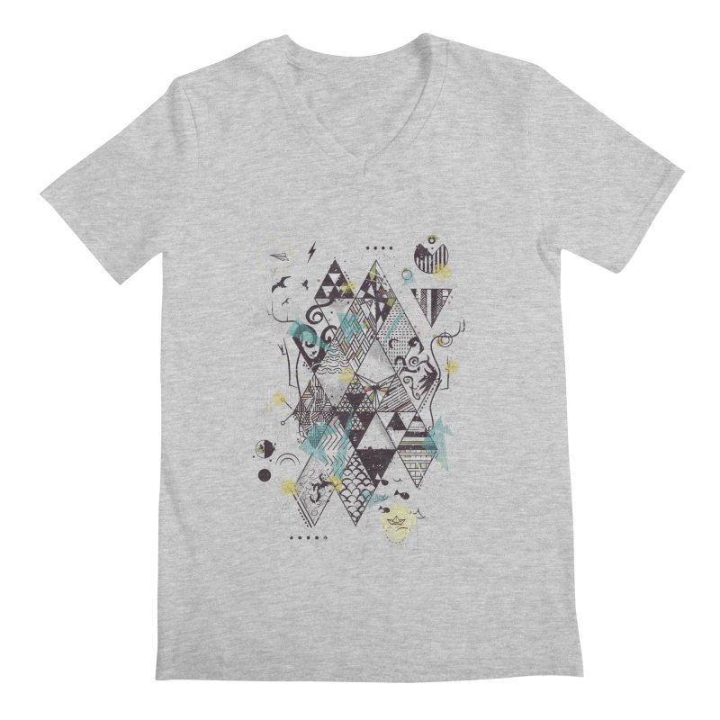 Geometric Nature Men's V-Neck by LStrider