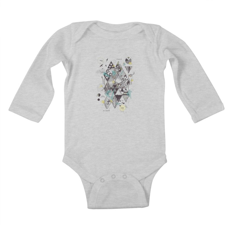 Geometric Nature Kids Baby Longsleeve Bodysuit by LStrider