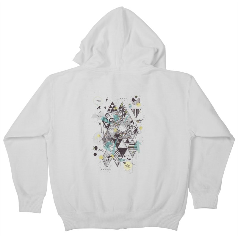 Geometric Nature Kids Zip-Up Hoody by LStrider