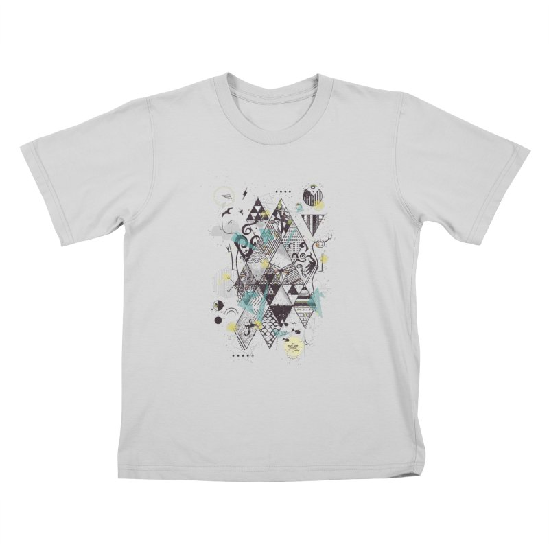 Geometric Nature Kids T-Shirt by LStrider