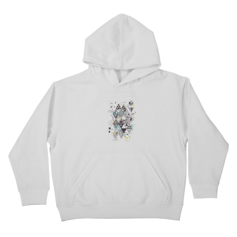Geometric Nature Kids Pullover Hoody by LStrider