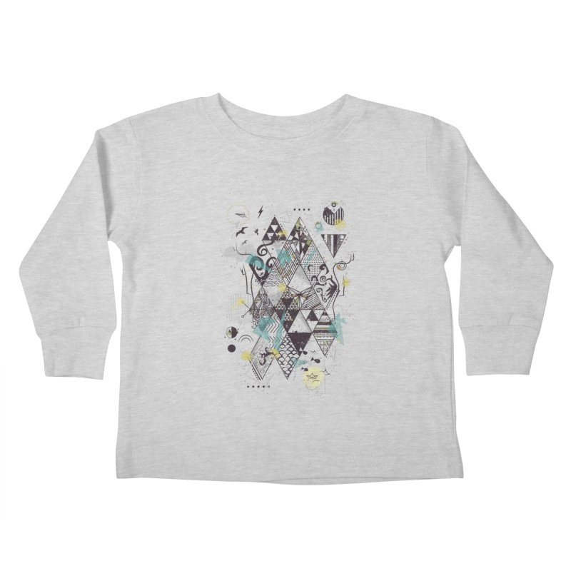Geometric Nature Kids Toddler Longsleeve T-Shirt by LStrider