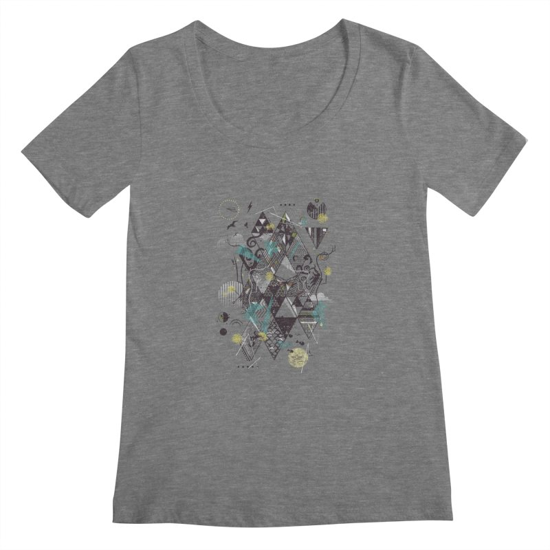 Geometric Nature Women's Scoopneck by LStrider