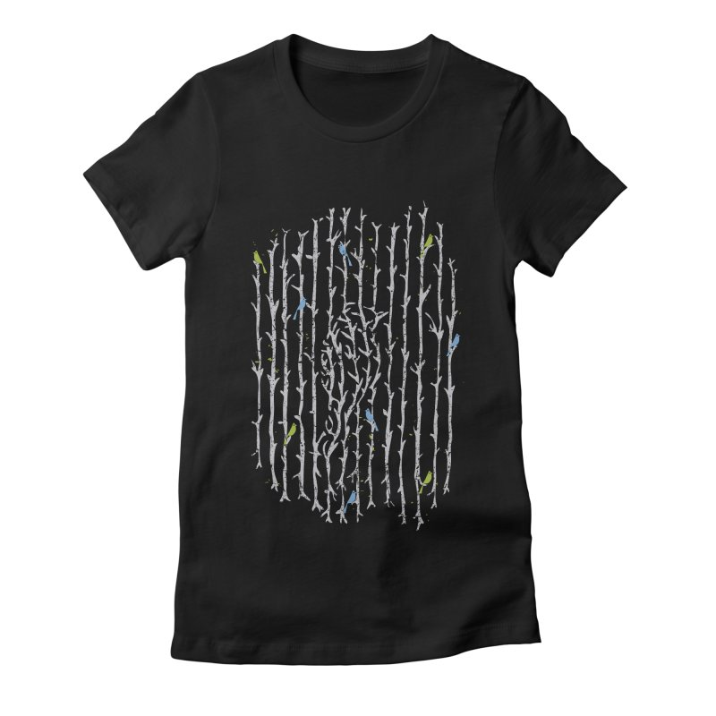 Treebird Women's Fitted T-Shirt by LStrider