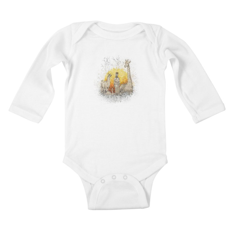 Long Neck Folks Kids Baby Longsleeve Bodysuit by LStrider