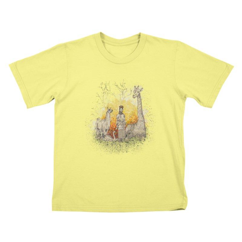 Long Neck Folks Kids T-shirt by LStrider