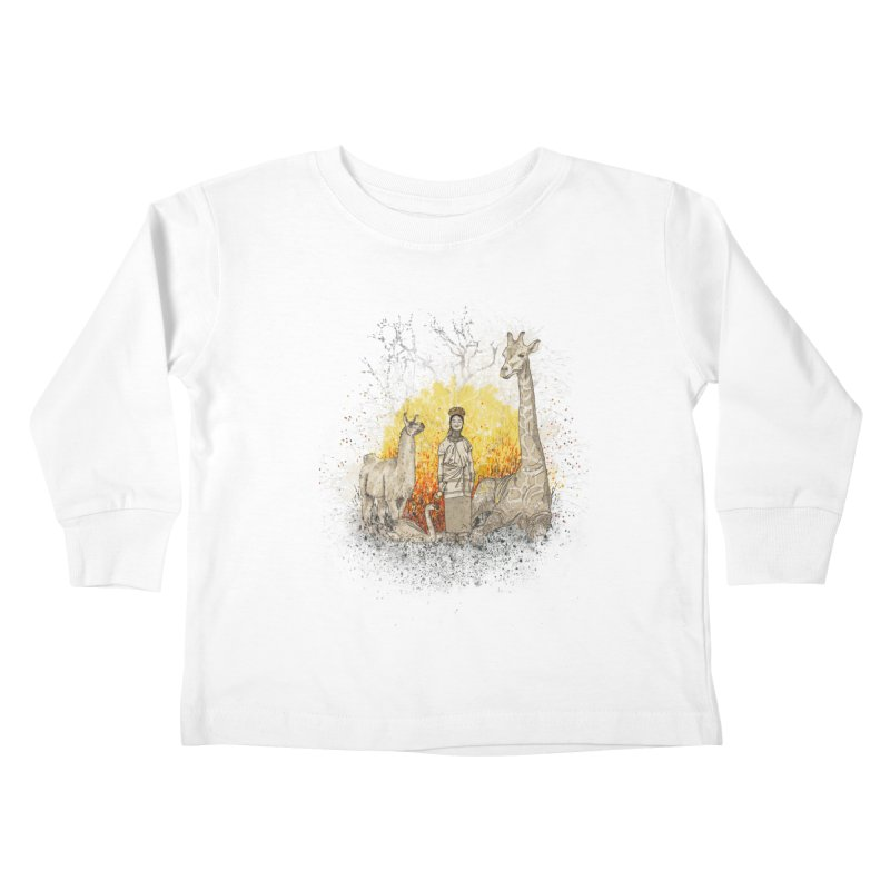 Long Neck Folks Kids Toddler Longsleeve T-Shirt by LStrider