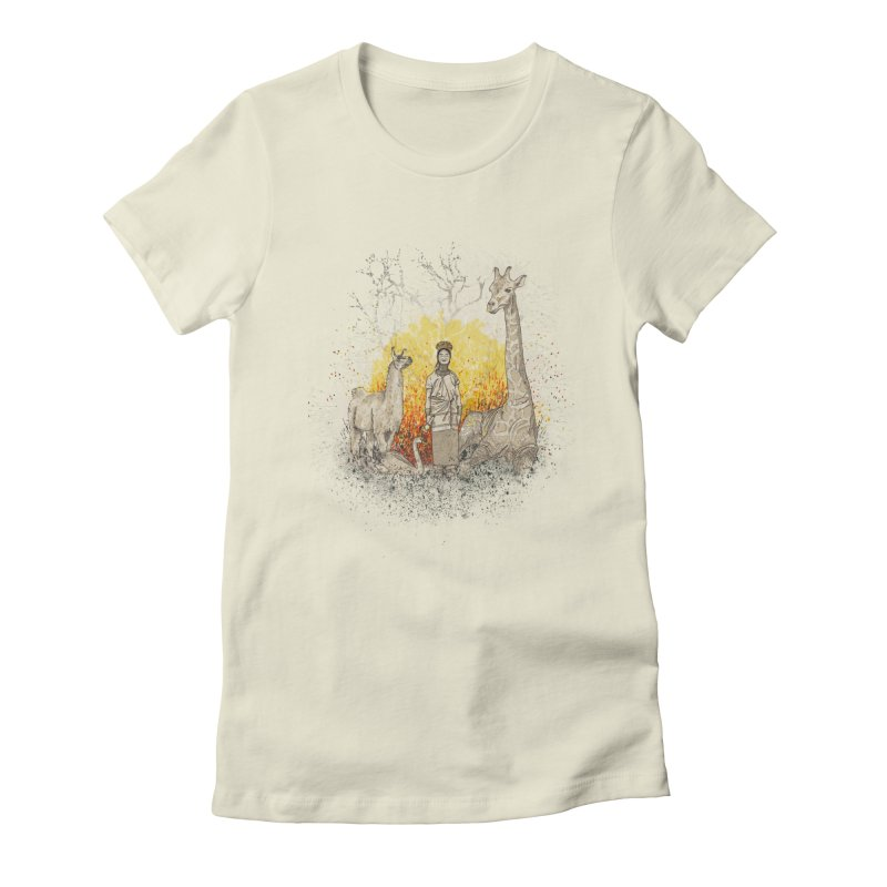 Long Neck Folks Women's Fitted T-Shirt by LStrider