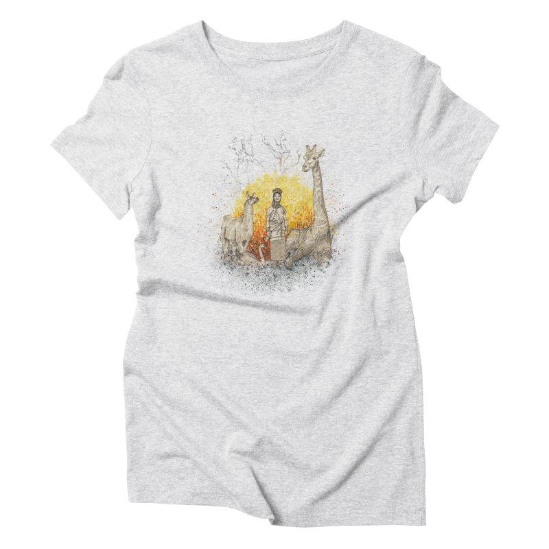 Long Neck Folks Women's Triblend T-shirt by LStrider