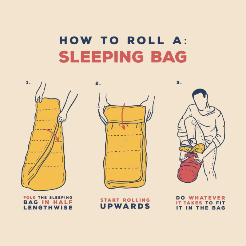 How to roll a sleeping bag by Lucia Sancho's Shop