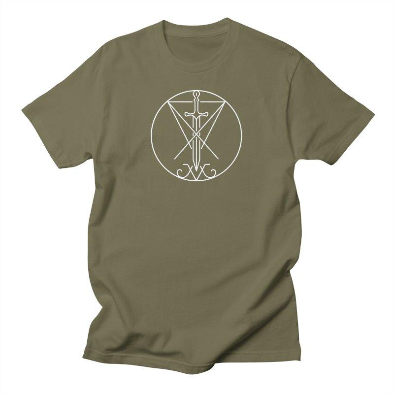 Dominion Symbol - White Men's T-Shirt by The Luciferian Dominion