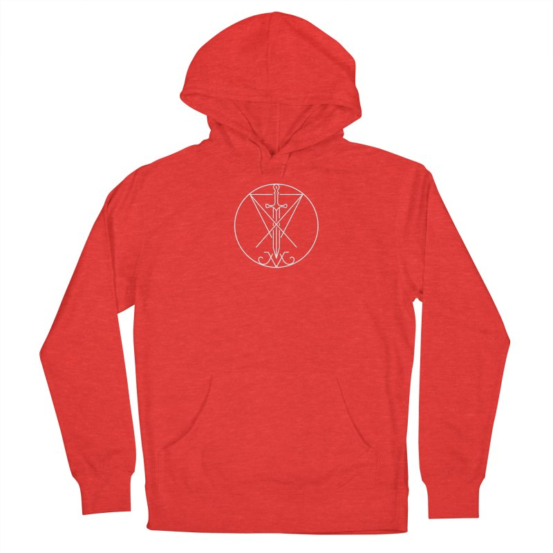 Dominion Symbol - White Women's Pullover Hoody by The Luciferian Dominion