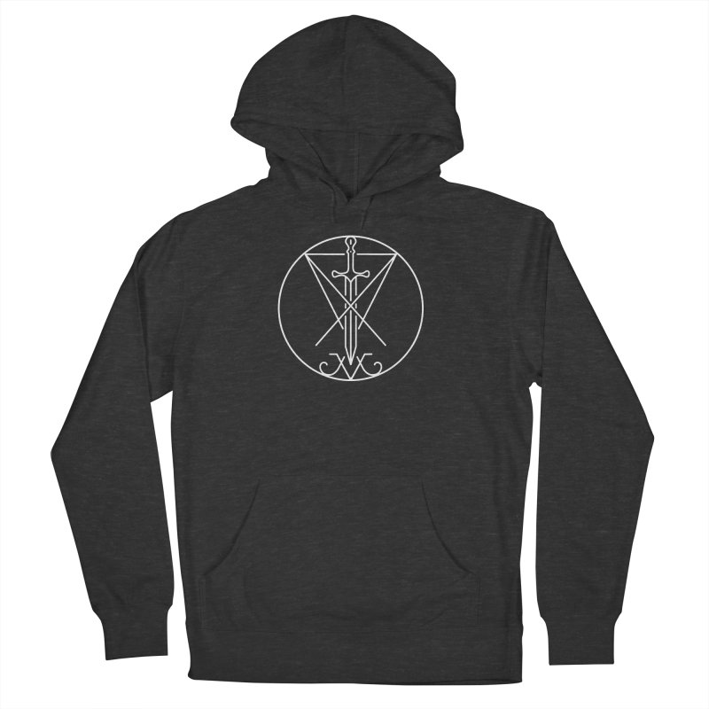 Dominion Symbol - White Women's French Terry Pullover Hoody by The Luciferian Dominion