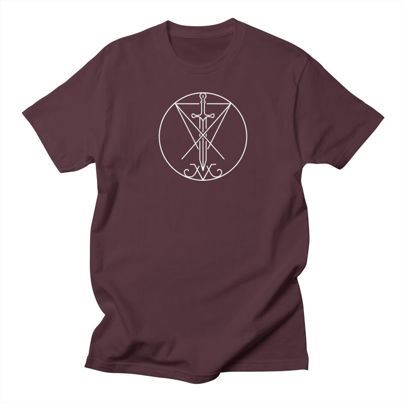 Dominion Symbol - White Men's Regular T-Shirt by The Luciferian Dominion