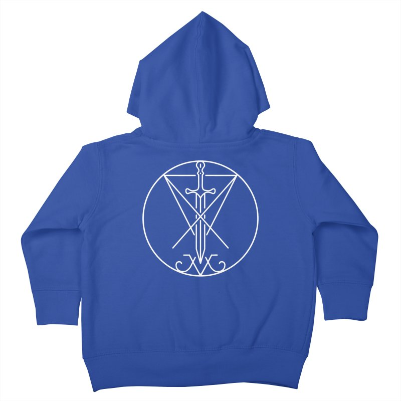 Dominion Symbol - White Kids Toddler Zip-Up Hoody by The Luciferian Dominion