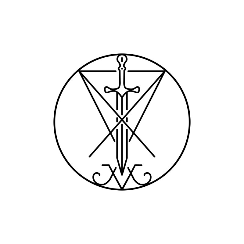 Dominion Symbol - Black by The Luciferian Dominion