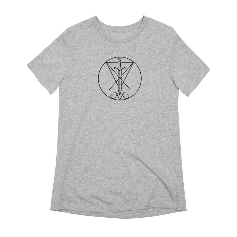 Dominion Symbol - Black Women's Extra Soft T-Shirt by The Luciferian Dominion