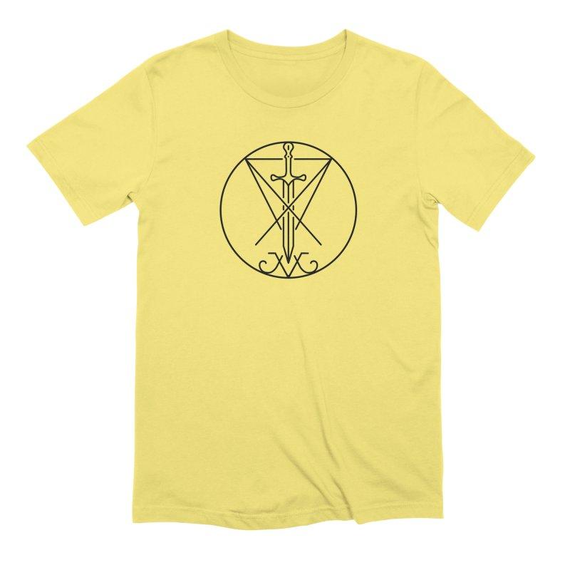 Dominion Symbol - Black Men's T-Shirt by The Luciferian Dominion