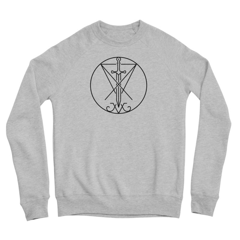 Dominion Symbol - Black Men's Sponge Fleece Sweatshirt by The Luciferian Dominion