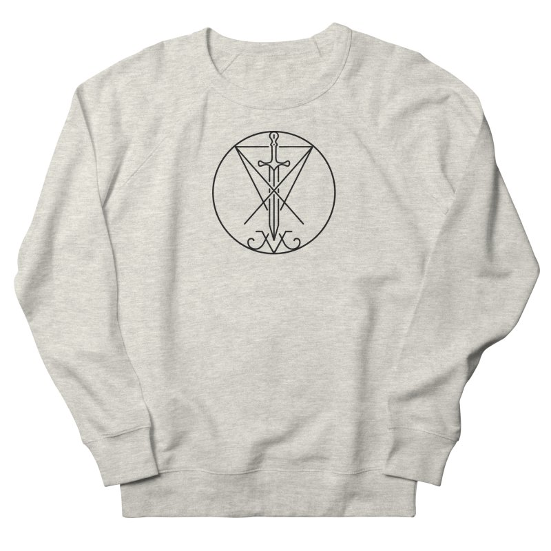 Dominion Symbol - Black Men's French Terry Sweatshirt by The Luciferian Dominion