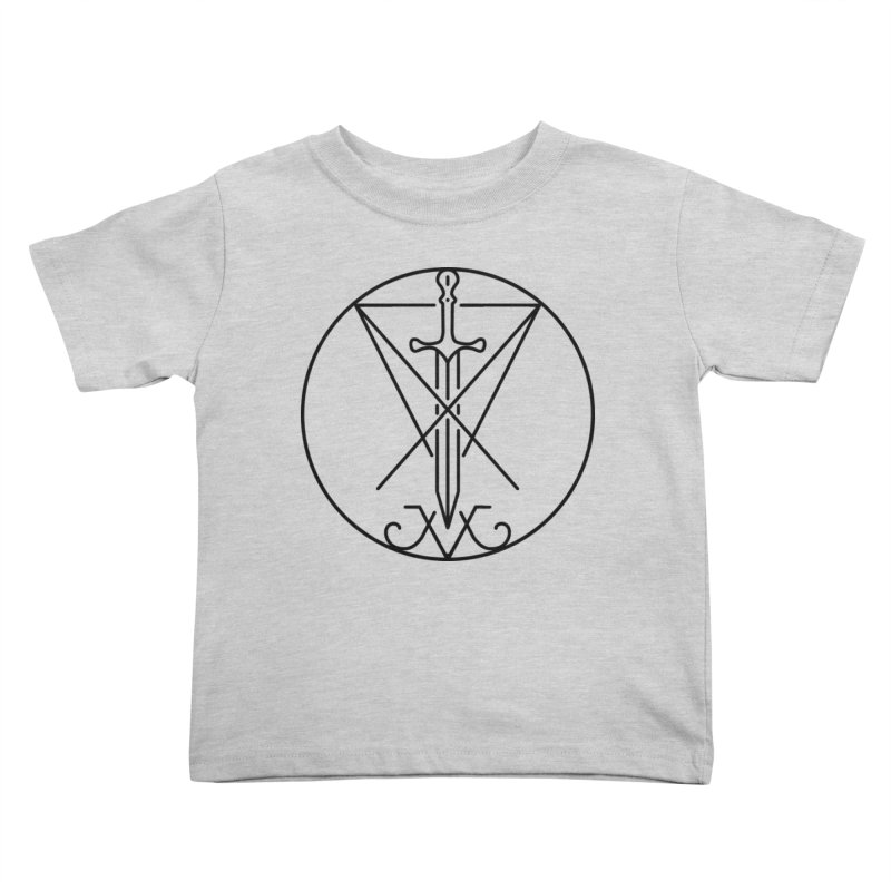 Dominion Symbol - Black Kids Toddler T-Shirt by The Luciferian Dominion