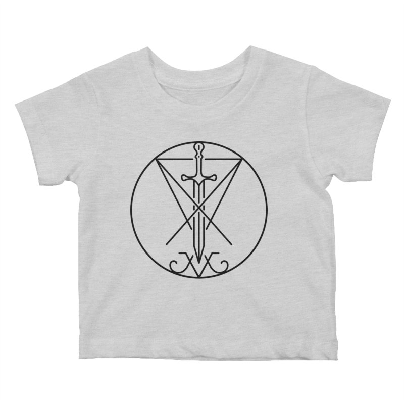 Dominion Symbol - Black Kids Baby T-Shirt by The Luciferian Dominion