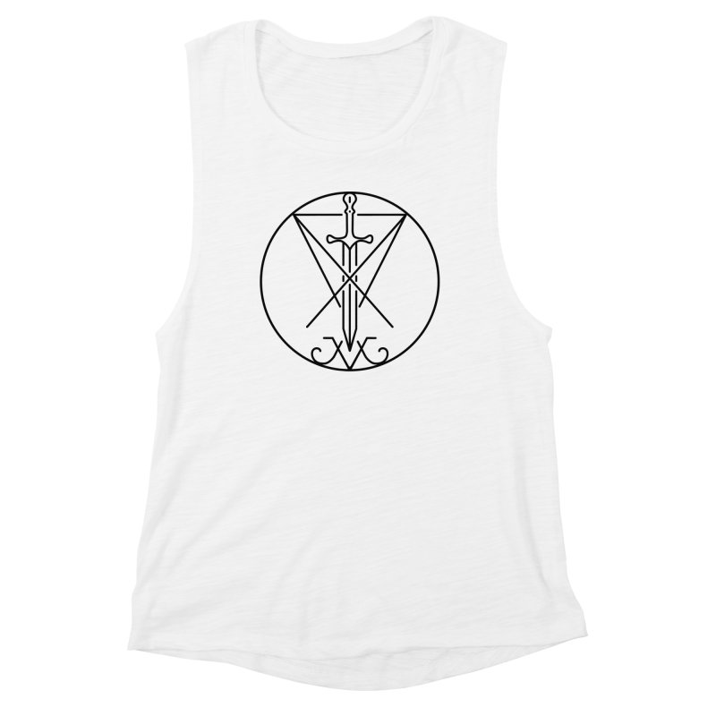 Dominion Symbol - Black Women's Muscle Tank by The Luciferian Dominion