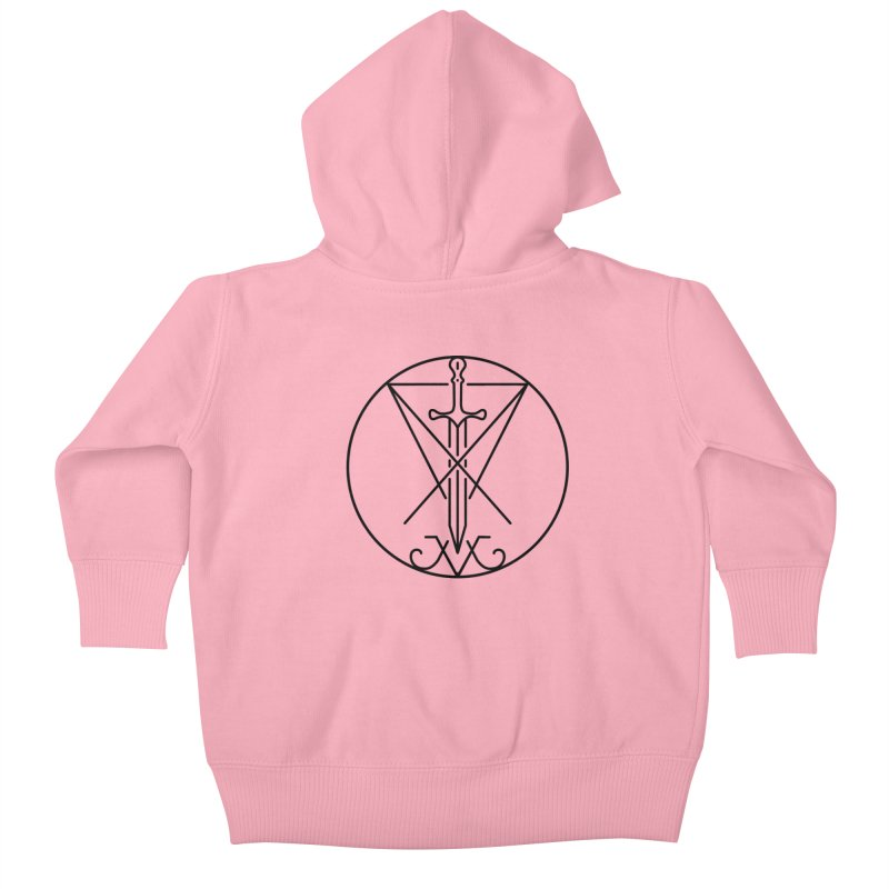 Dominion Symbol - Black Kids Baby Zip-Up Hoody by The Luciferian Dominion