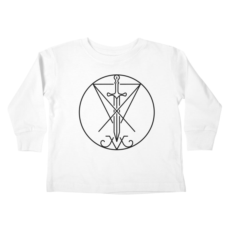 Dominion Symbol - Black Kids Toddler Longsleeve T-Shirt by The Luciferian Dominion