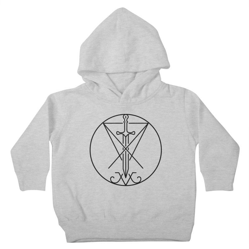 Dominion Symbol - Black Kids Toddler Pullover Hoody by The Luciferian Dominion