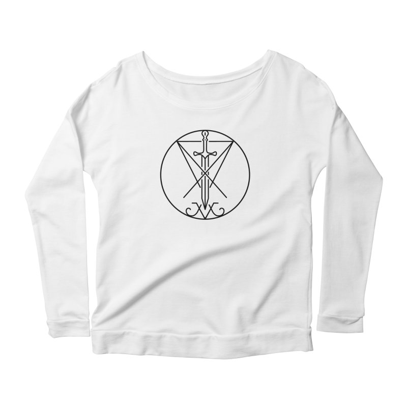 Dominion Symbol - Black Women's Scoop Neck Longsleeve T-Shirt by The Luciferian Dominion