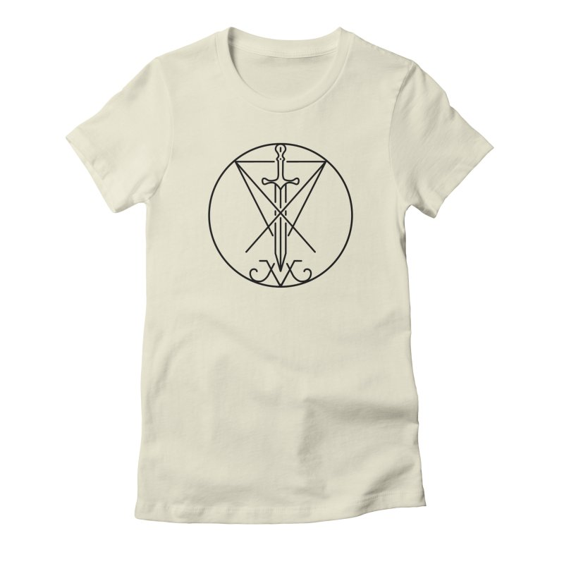 Dominion Symbol - Black Women's Fitted T-Shirt by The Luciferian Dominion