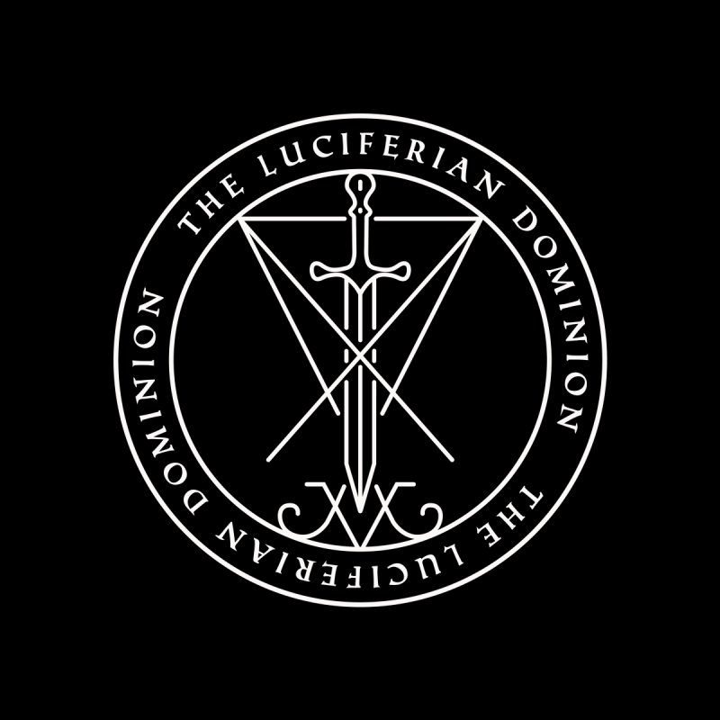 Dominion Emblem - White by The Luciferian Dominion
